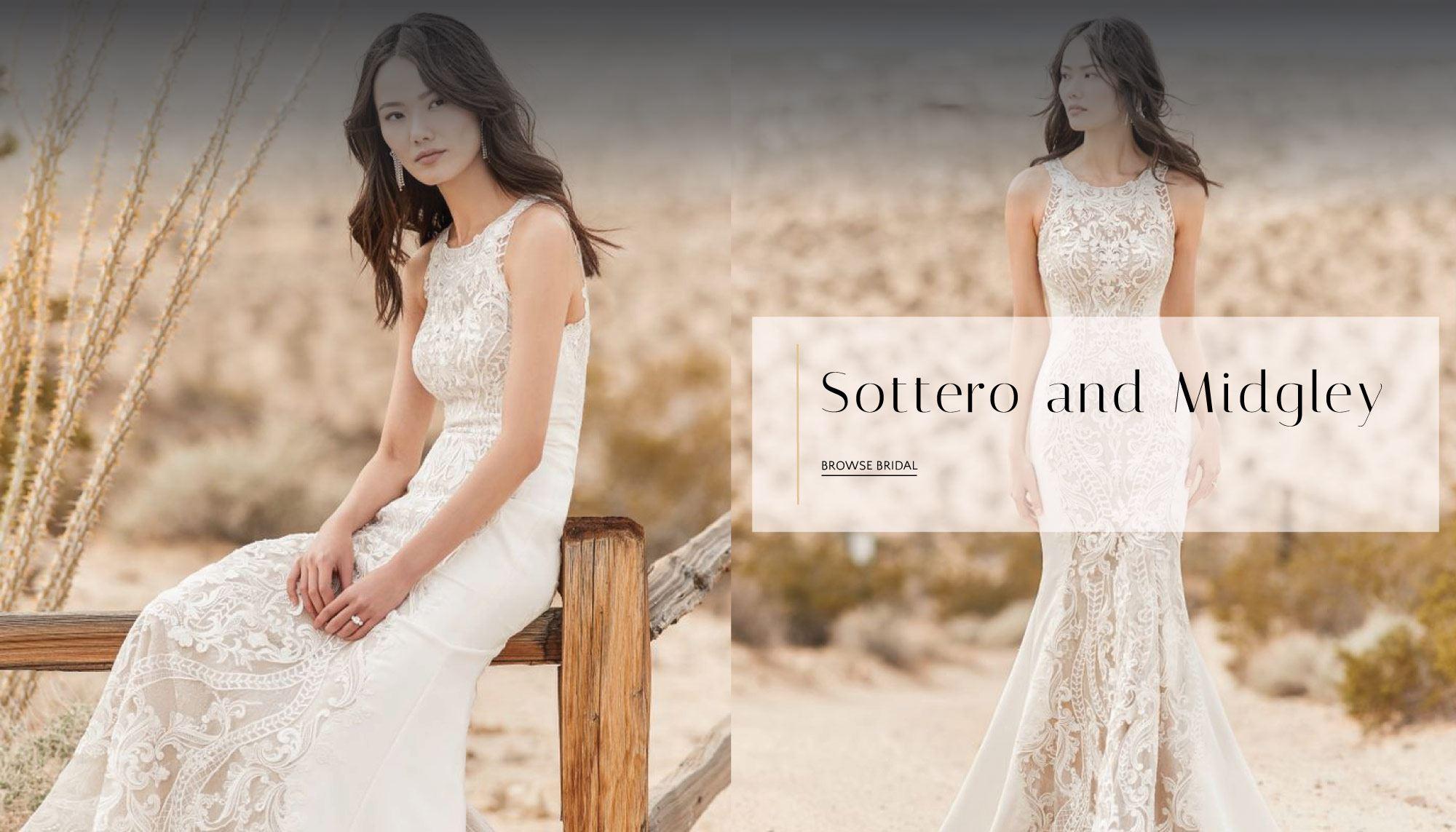 Woman wearing a bridal gown from Sottero and Midgley
